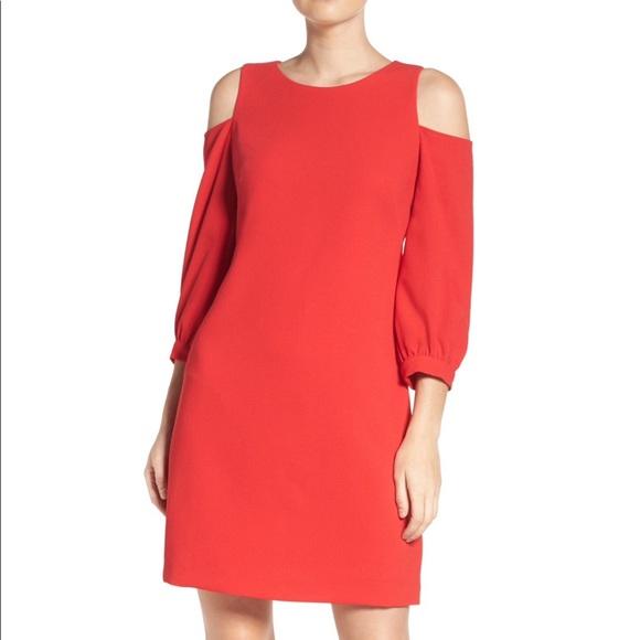 5ec8a1826e5 Eliza J Cold Shoulder Shift Dress